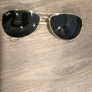 Rayban sunglasses preowned black and gold